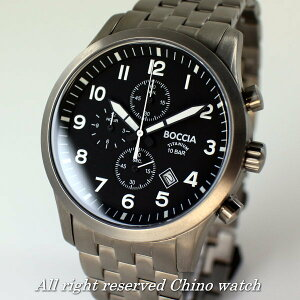 8405ff7d09 ... ドイツ時計BocciaTitaniumボッチアチタニュウム3755-02クォーツクロノグラフカード分割 ...