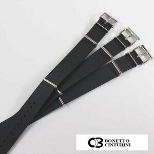 BCボネット・シンチュリーニラバーNatoベルト20mmブラックオリス/オリスBC3/ORIS/高級ダイバーズウォッチ用送料無料腕時計時計