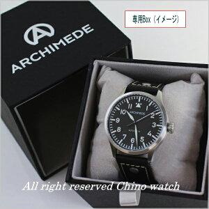 ドイツ製パイロットウォッチARCHIMEDEパイロットヒストリカルダイヤル39ミリ腕時計時計UA7969-A4.1