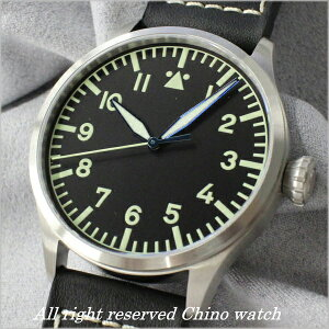 ARCHIMEDEパイロットヒストリカルダイヤル42ミリ腕時計時計ブラックレザー【_包装】【_のし】