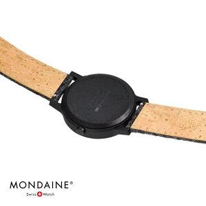 NEWMONDAINEessenceモンディーンエッセンスフェルト直径41mmWHITEケースMS1.41110.LH付け替えストラップ付きスイス鉄道時計腕時計時計