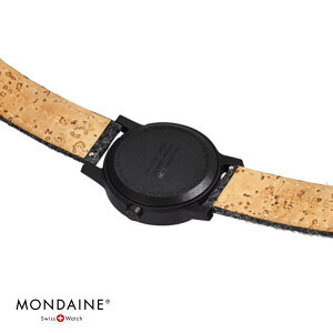 NEWMONDAINEessenceモンディーンエッセンスフェルト直径32mmWHITEケースMS1.32110.LH付け替えストラップ付きスイス鉄道時計腕時計時計