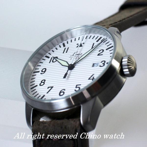 ラコ 腕時計 Laco 861971 Basel パイロット クォーツ