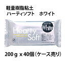 【送料無料】ねんど 軽量樹脂粘土 ハーティソフト ホワイト 40個 パジコ 高品質 石塑粘土 石紛粘土 油粘土 紙粘土 クレイクラフト