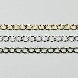 真鍮チェーン BS-139 1m ゴールド ロジウム シルバー アンティーク 古美 メッキ 真鍮 金 鎖 ハンドメイド