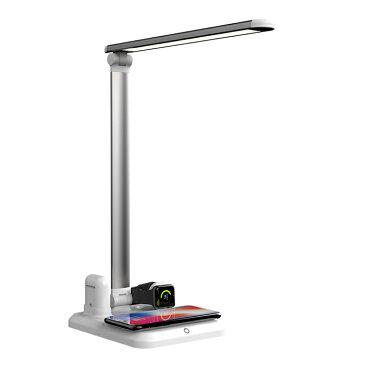 急速 ワイヤレス 充電器 デスク ライト 調光 led スマホ iPhone Xperia Galaxy スタンド