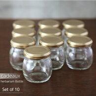 【herbariumhandmade】ハーバリウム用ガラスボトル【コロン・丸】80ml×10本セッ/ガラス瓶