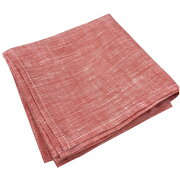 リネン(麻)100%ランチクロス(レッド)<お弁当を包むのにもぴったりサイズ60cmx60cm>