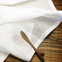 150cm巾【 リネン 100% 生地 】ホワイト 薄地 無地 1m単位 R0296 <旧品番 W-692> 【レースカーテン、カフェカーテンに最適】( 安い 麻 幅広 白 ガーゼ 格安 ハンドメイド 手作り 晒 さらし )