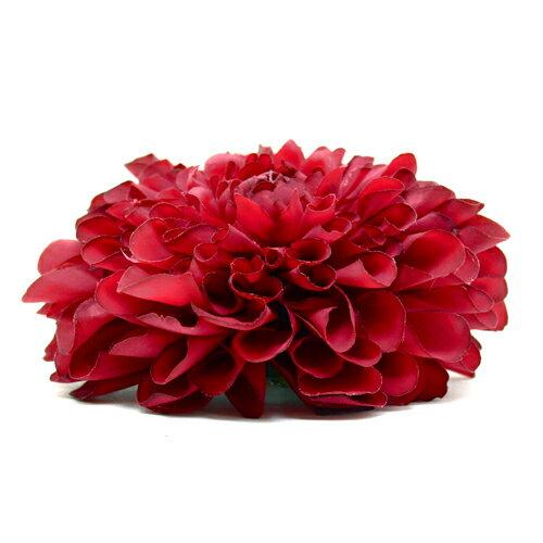 【楽天市場】ポンポンダリア【赤】成人式に人気の赤い花飾り ...
