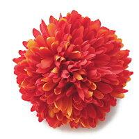菊の髪飾り【M】【紫・オレンジ色・赤茶色】