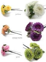 小さな菊の髪飾り