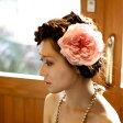 大輪バラのコサージュ【ピンク】【髪飾り】