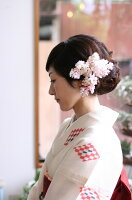 つぼみコサージュ・白・ヘッドドレス・着物【人気・おしゃれ・かわいい・こだわり・おすすめ】