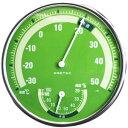 アナログ温湿度計 グリーン DRETEC[ドリテック] 【手作り石鹸/温度計/湿度計】【bd】