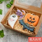 ハロウィンのプレゼントに【ハロウィンクッキーset B】アイシングクッキー クッキー ハロウィン Halloween プレゼント ギフト 名入れ 文字入れ