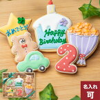 誕生日プレゼントにお名前入り【バースデーギフト BOY】アイシングクッキー クッキー ギフト 詰め合わせ 誕生日 100日 名入れ 文字入れ 男の子 BOY かわいい お菓子