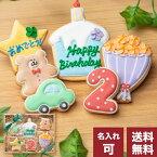 送料無料 誕生日プレゼントにお名前入り【送料無料バースデーギフト BOY】アイシングクッキー クッキー ギフト 詰め合わせ 誕生日 100日 名入れ 文字入れ 男の子 BOY かわいい お菓子