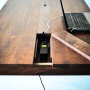スマートデスク150配線収納パソコンデスクPCデスク学習机勉強机ワークデスクウォールナットオークチェリー無垢材オーダー可北欧テイストおしゃれ木製日本製国産大川家具送料無料ダイニングテーブル