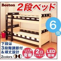大人でも使えるオシャレな2段ベッド【ボストン-BOSTON】(2段ベッドすのこ耐震)