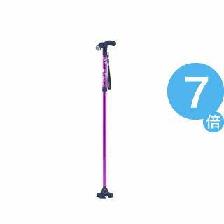 ★ポイントUp7倍★LEDライト付き4点自立お洒落ステッキ(ピンク)【杖】[21]