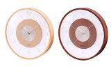 ウッド&ガラスウォールクロック壁掛時計IDEAイデア