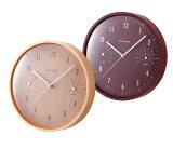 イデアIDEAウッド湿温時計壁掛時計
