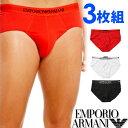 EMPORIO ARMANI エンポリオアルマーニ メンズ 3パック ピュアコットン ボクサーパンツ 赤、白、黒[ブリーフ 下着 肌着 パンツ アルマーニアンダーウェア ボクサーパンツ アルマーニ 下着][110824-CC722][送料無料]大きいサイズ ブランド