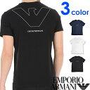EMPORIO ARMANI エンポリオアルマーニ メンズ Vネック ルーズフィット ロゴ プリント 半袖 Tシャツ