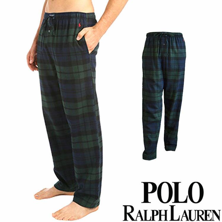 POLO RALPH LAUREN ポロ ラルフローレン メンズ タータンチェック コットン フランネル リラックスパンツ[S/M/L/XL][ポロ・ラルフローレン ラルフローレンパンツ パジャマ 部屋着 ルームウェア ルームウエア][][P657]大きいサイズ ブランド