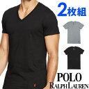 POLO RALPH LAUREN ポロ ラルフローレン メンズ ストレッチ コットン Vネック 半袖Tシャツ 2枚セット ラルフローレンTシャツ ラルフtシャツ [LEVN][あす楽]