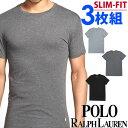 POLO RALPH LAUREN ポロ ラルフローレン メンズ スリムフィット コットン クルーネック 半袖Tシャツ 3枚セット スリムフィット ラルフローレンTシャツ[LSCN]