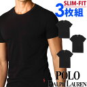 POLO RALPH LAUREN ポロ ラルフローレン tシャツ メンズ クルーネック 3枚セット スリムフィット ラルフローレンTシャツ[LSCN][RSCNP3]