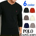 POLO RALPH LAUREN ポロ ラルフローレン メンズ サーマル Vネック 長袖Tシャツ 5色展開[黒 赤 ダークグレー ヘザー 紺][ポロ・ラルフローレン ラルフローレン tシャツ 下着 インナー サーマル シャツ ロンtワッフル]大きいサイズ[送料無料]PW71/PWLVFR]ブランド