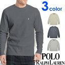 POLO RALPH LAUREN ポロ ラルフローレン メンズ サーマル 長袖Tシャツ 3色展開[灰色 グレー][S/M/L/XL][ポロ・ラルフローレン ラルフローレン tシャツ 下着 インナー サーマル シャツ サーマル ロンtワッフル]大きいサイズ[送料無料][p551g/pw74G/PWLCFR]