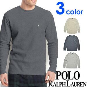 POLO RALPH LAUREN ポロ ラルフローレン メンズ サーマル 長袖Tシャツ 3色展開[灰色 グレー][S/M/L/XL][ポロ・ラルフローレン ラルフローレン tシャツ 下着 インナー サーマル シャツ サーマル ロンt ワッフル]大きいサイズ[送料無料][p551g/pw74G/PWLCFR]