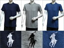 POLO RALPH LAUREN ポロ ラルフローレン メンズ クルーネック 半袖 Tシャツ 3枚セット ネイビー オーシャンブルー ライトグレー S M L XL おしゃれ ブランド 大きいサイズ [あす楽][rccnp3u2o /LCCN] 3