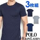 POLO RALPH LAUREN ポロ ラルフローレン メンズ クルーネック 半袖 Tシャツ 3枚セット ネイビー オーシャンブルー ライトグレー S M L XL おしゃれ ブランド 大きいサイズ [あす楽][rccnp3u2o /LCCN] 1