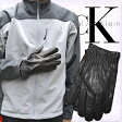 CalvinKlein[カルバンクライン]メンズ Wステッチデザイン レザーグローブ 本革手袋 黒(Leather Glove w/Contrast Stitch)[てぶくろ ブランド手袋 冬小物 牛革 皮 レザー][mens][77003][送料無料]大きいサイズ ブランド