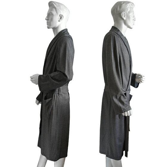 EMPORIO ARMANI[エンポリオアルマーニ]メンズ バスローブ ナイトガウン ナイトウエア[グレー 灰色 grey][モダール 部屋着 ナイトウエア ルームウェア ガウン][111381-6A580]