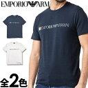 EMPORIO ARMANI エンポリオアルマーニ メンズ クルーネック スリムフィット ロゴ 半袖 Tシャツ イーグルマーク ホワイト ネイビー S M L XL おしゃれ ブランド 大きいサイズ [5500円以上で送料無料] [あす楽][1108539p510]
