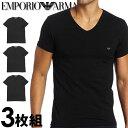 EMPORIO ARMANI エンポリオアルマーニ メンズ tシャツ 3枚パック Vネック Tシャツ...
