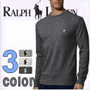 楽天POLO RALPH LAUREN ポロ ラルフローレン メンズ サーマル 長袖Tシャツ 3色展開[灰色 グレー][S/M/L/XL/XXL][ポロ・ラルフローレン ラルフローレン tシャツ 下着 インナー サーマル シャツ サーマル ロンt ワッフル]大きいサイズ[5,400円以上で送料無料][P551G]ブランド