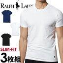 POLO RALPH LAUREN ポロ ラルフローレン メンズ スリムフィット コットン クルーネック 半袖 Tシャツ 3枚セット ネイビー ブラック ホワイト polo ロゴ S M L XL おしゃれ ブランド 大きいサイズ [5500円以上で送料無料] 【あす楽】[RSCNP3/LSCN/p645u5o]