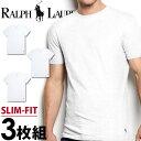 POLO RALPH LAUREN ポロ ラルフローレン tシャツ メンズ クルーネック 3枚セット スリムフィット ラルフローレンTシャツ[LSCN/RSCNP3]