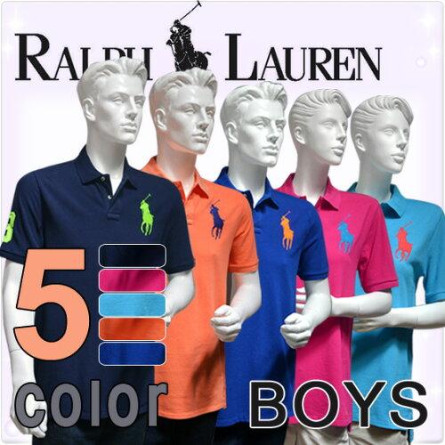 POLO RALPH LAUREN boys ポロ ラルフローレン ビッグポニー 半袖 ポロシャツ ボーイズ ポロプレイ...