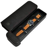 【新品】TCMテッラチエロマーレシレ時計[TerraCieloMare]メンズ腕時計SCIREレザー[TC7064AC3PA]ディープブルー/キャメルレザー[うでどけいウォッチ時計ミリタリーウォッチアナログ][送料無料]ブランド