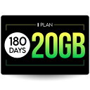 プリペイドSIMカード 180日20GBプラン[Iプラン] 長期格安プラン 日本国内用