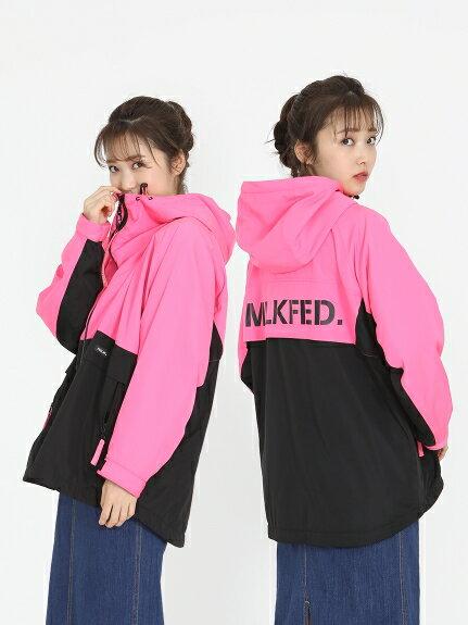 レディースファッション, コート・ジャケット MILKFED.()NEON COLOR OVERSIZED HOODED BLOUSON