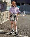 【公式】X-girl エックスガール #1 SKATER TWILL FLIGHT SKIRT ミニスカート レディース SS ボトムス ポケ...